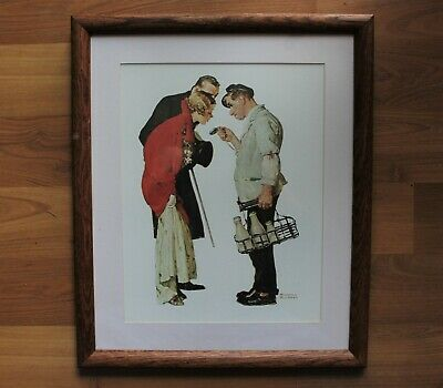 $ CDN30 • Buy Vintage Framed  Milkman & Young Couple  Norman Rockwell Print