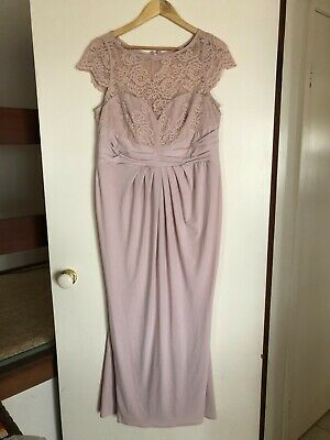 AU39.99 • Buy ASOS Formal Evening Bridesmaid Stretchy Blush Pink Dress Size UK18 EU46 US14