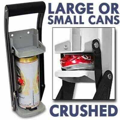 16 Oz Can Crusher Wall Mounted Aluminum Heavy Duty Pop- Beer Tin Recycling Tool • 29.59£