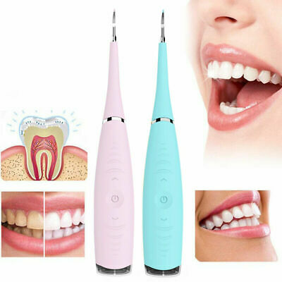 Electric Sonic Dental Scaler  Calculus Plaque Remover Teeth Stains Cleaner UK • 7.99£