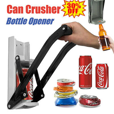 Large Beer Tin Can Crusher Bottle Opener 16oz 500ml Wall Mounted Recycling Tool • 7.40£