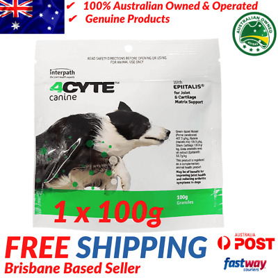 AU69.95 • Buy 4CYTE Canine Joint Support Supplement - 1x100g - Granules For Dogs