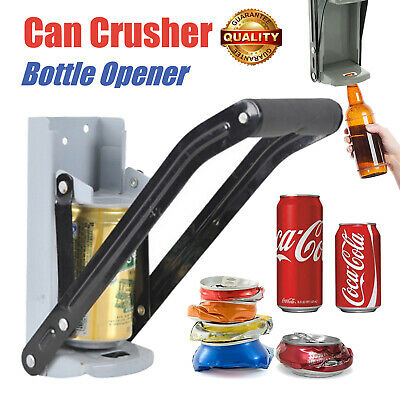 Heavy Duty 2in1 Beer Tin Can Crusher & Bottle Opener Recycling Tool Wall Mounted • 7.40£