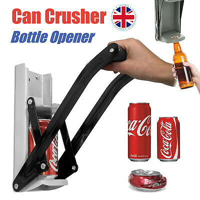 Heavy Duty Beer Tin Large Can Crusher & Bottle Opener Wall Mounted 500ml 16oz UK • 9.98£