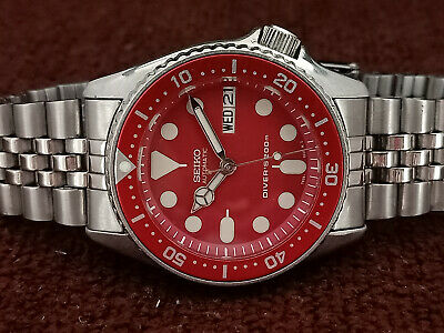 $ CDN15.12 • Buy Lovely Red Modded Seiko 7s26-0030 Skx013 Automatic Mens Watch Sn 2d0244
