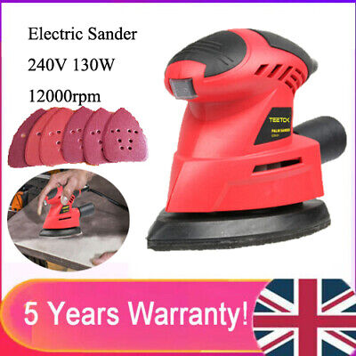 130W Electric Hand Held Power Sander Sanding Sheet For Walls Floors Wooden DIY • 16.99£