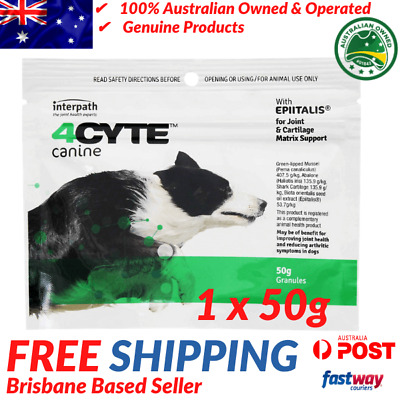 AU44.95 • Buy 4CYTE Canine Joint Support Supplement - 50g - Granules For Dogs