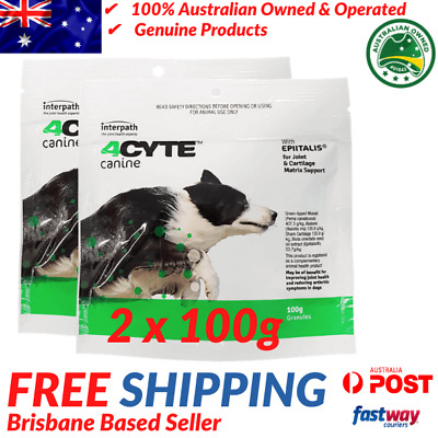 AU135.95 • Buy 4CYTE Canine Joint Support Supplement - 2x100g - Granules For Dogs