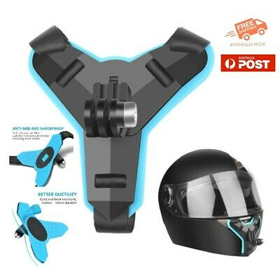 AU19.95 • Buy Motorcycle Helmet Chin Mount - GoPro & Action Cameras + Attached J-Clip & Screw