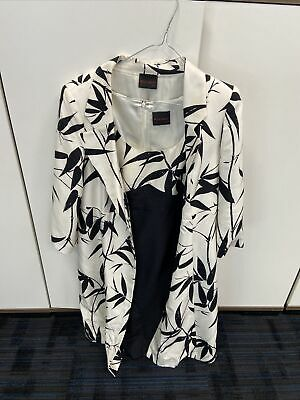 Feank Usher Silk Dress And Jacket Size 14 • 2.50£
