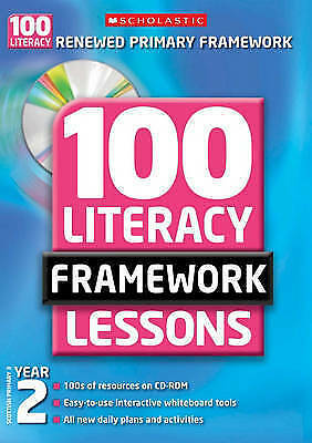 £8 • Buy 100 New Literacy Framework Lessons For Year 2 With CD-Rom By Eileen Jones (Mixed