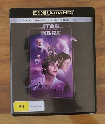 AU17.95 • Buy Star Wars: Episode IV - A New Hope 4K - 3 Disc UltraHD Blu-ray - AS NEW