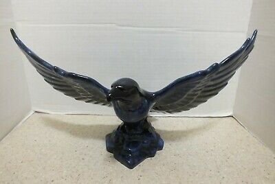 $ CDN25 • Buy Blue Mountain Pottery Large Blue Flying Eagle