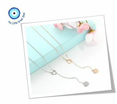 AU10 • Buy BRAND NEW Y Shaped Heart Gold & Silver Necklace