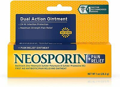 Neosporin + Maximum-Strength Pain Relief Dual Action Antibiotic Ointment With Ba • 13.99£