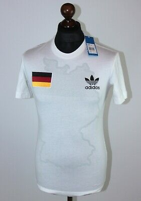 Retro Germany National Team Football Tee Shirt Adidas BNWT Size S • 27.99£