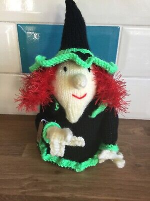 Knitted ' Witch' Toilet Roll Cover. • 12£