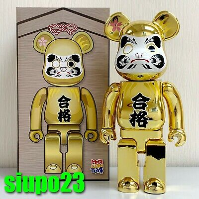 $169.99 • Buy Medicom 400% Bearbrick ~ Daruma Be@rbrick Pass Gold Plating Version