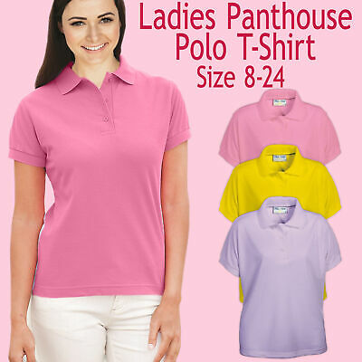 £4.99 • Buy Ladies Penthouse Polo Neck Shirt Fitted Plain Basic Casual T-Shirt Top Size 8-24