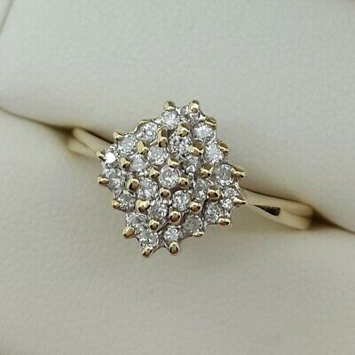 Diamond Cluster (0.5 Carat) In 9ct Gold. Ring Size T. • 195£