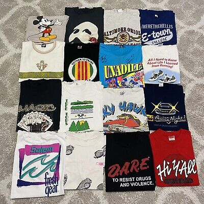 $ CDN162.86 • Buy Vintage 90s T Shirt Bundle Lot Of 16 Tee Shirts Vtg Assorted Sizes Single Stitch