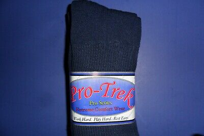 £8.77 • Buy Over The Calf Socks 10-13  Made In USA With USA Cotton Pro Trek 3 Pair Navy