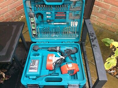 Makita 8391d 18v Cordless Combi Drill,2 Batteries, Charger And Case With Bits • 48£