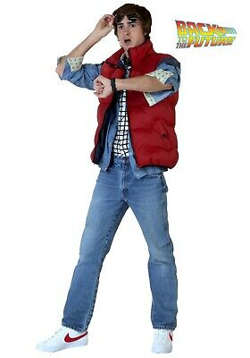 $42.24 • Buy  Adult Back To The Future Marty McFly Red Puffer Vest Costume Size S M L 2X