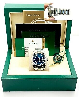 $ CDN11738.66 • Buy Rolex Datejust II 116300 Blue Dial Stainless Steel Box Papers 41mm
