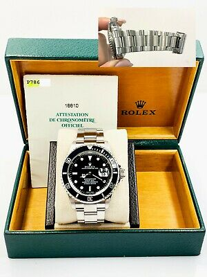 $ CDN11309.30 • Buy Rolex Submariner 16610 Black Dial Stainless Steel Box Papers 40mm