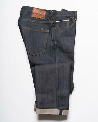 PRPS Goods & Co. NWT Blue Raw Selvedge Denim Barracuda Relaxed Fit Jeans 32 • 82.24£