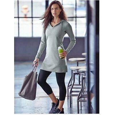 $ CDN48.20 • Buy Athleta Bliss Dress Hoodie Small Grey Thumb Holes Tunic 243067