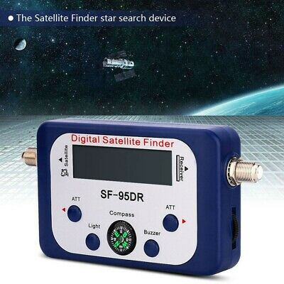 Digital Display Satellite Finder Signal Strength Meter Compass TV Dish FTA LNB • 13.92£