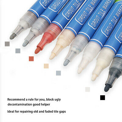 1x Grout Pen Revives & Restores Wall Tile Grout Anti-Mould Avaliable In 7 Colour • 4.74£