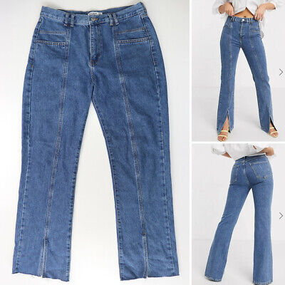 AU48 • Buy Pull And Bear Women's Blue Split Front Denim Jeans With Pockets