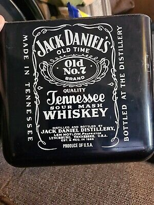 RARE Jack Daniels Whiskey Ice Bucket With Lid - Real & Used • 20£