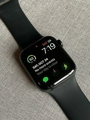 $ CDN201.52 • Buy Apple Watch Series 4 44mm Black Stainless Steel With Sport Band Cellular - MINT