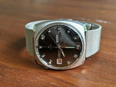 $ CDN72.34 • Buy Vintage Seiko DX 6106-9050 Automatic Watch Gray Sunburst Dial Day-date 1969