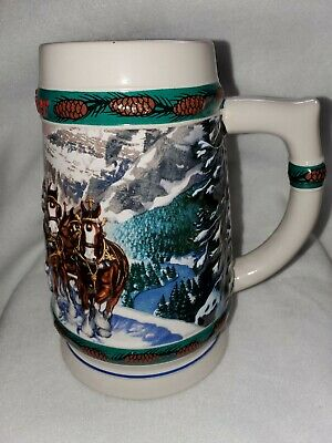 $ CDN92 • Buy New 2002 Budweiser Clydesdale Horses Holiday Beer Stein