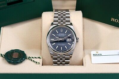 $ CDN10239.92 • Buy Rolex Datejust 36 Blue Index Jubilee Domed October 2020 Box/Papers/Card 126200