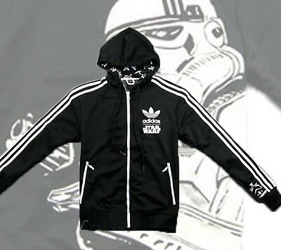ADIDAS ORIGINALS STAR WARS STORMTROOPER TRACK TOP HOODY JACKET SIZE Large L • 74.95£