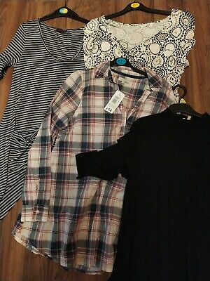 Maternity Clothes, Ladies Bundle, Dresses, Tops, Shirt, All Size 12-14. Some New • 9£