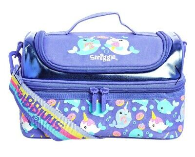 $ CDN31.96 • Buy SMIGGLE Double Decker Strap Lunchbox Lunch Bag  Whirl  Whale W Unicorn Horn