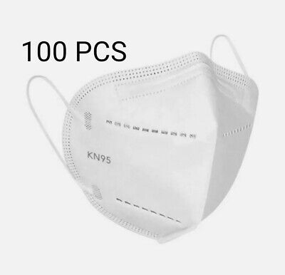 100 X 4 Ply FFP2 Face Mask 95% Hygienic Face Cover Virus Protection Non Medical • 42.99£