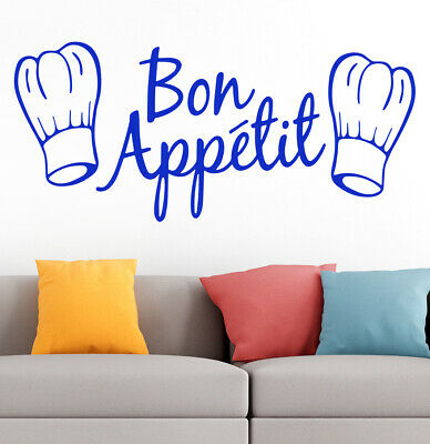£5.50 • Buy Bon Appetit Kitchen Cafe Home Love Family Quote Wall Vinyl Sticker Decal BLUE 52