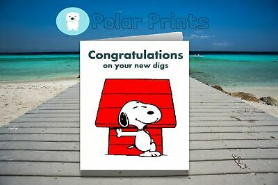 Snoopy Personalised New Home Card. Unique High Quality Card.  • 3.50£