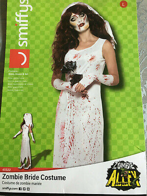 Zombie Bride Adult Smiffys Halloween Costume Large • 13£