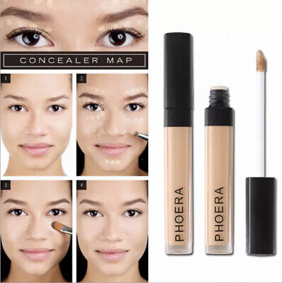 PHOERA Foundation Concealer Makeup Full Coverage Matte Brighten Long Lasting UK • 3.48£