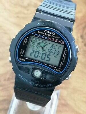 Casio TS-100 World Time Thermometer Digital Watch Working Condition  • 89£