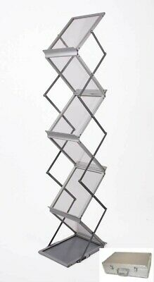 A4 Brochure/Magazine Folding Display Stand Rack For Exhibitions Etc With Case • 22£